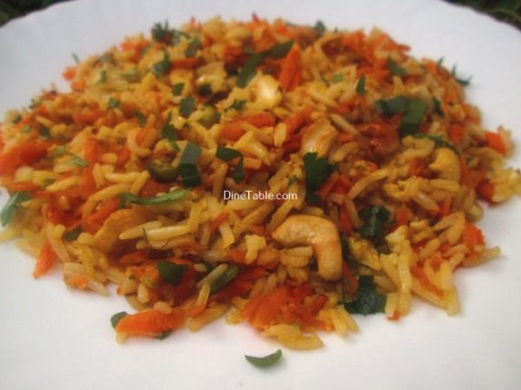 Carrot Rice Recipe / Kids Rice