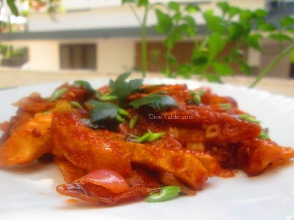 Chilly Potato Recipe / Vegetable Dish