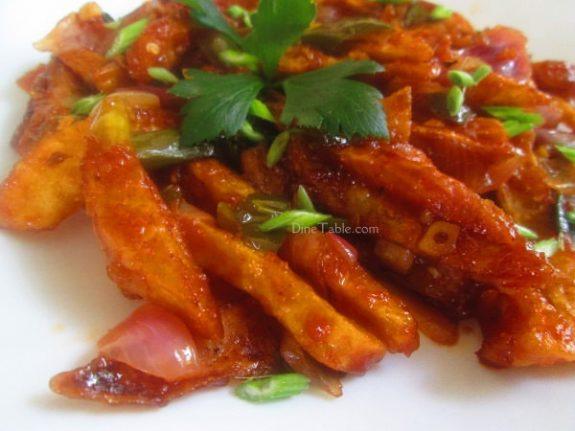 Chilly Potato Recipe / Side Dish