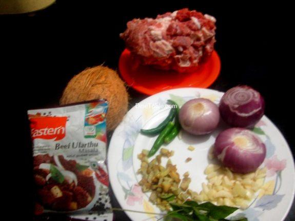 Nadan Beef Ularthiyathu Recipe / Spicy Dish