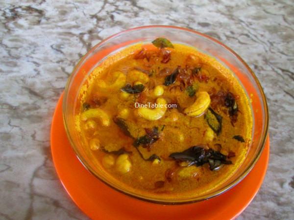 Cashew Nut Curry Recipe / കശുവണ്ടി തേങ്ങാപാൽ കറി