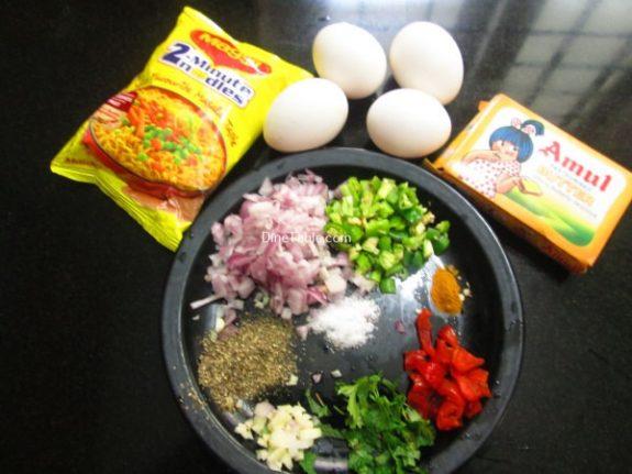 Maggi Noodle Omelette Recipe / Easy Omelette