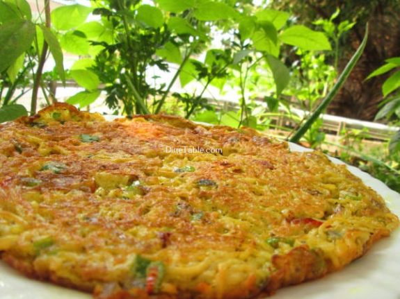 Maggi Noodle Omelette Recipe / Snack Omelette