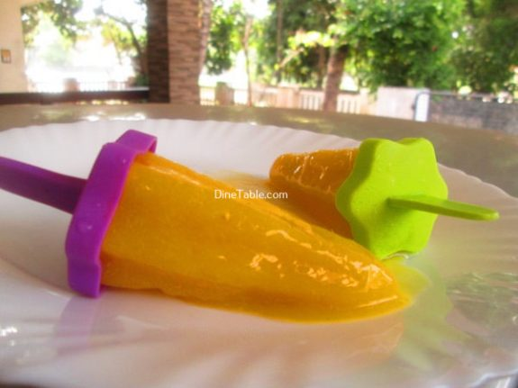 Mango Popsicles Recipe / Quick Popsicles