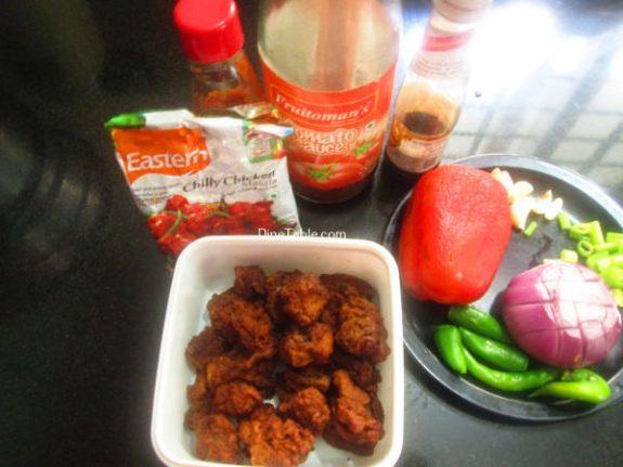 Spicy Chilly Chicken Recipe / Side Dish