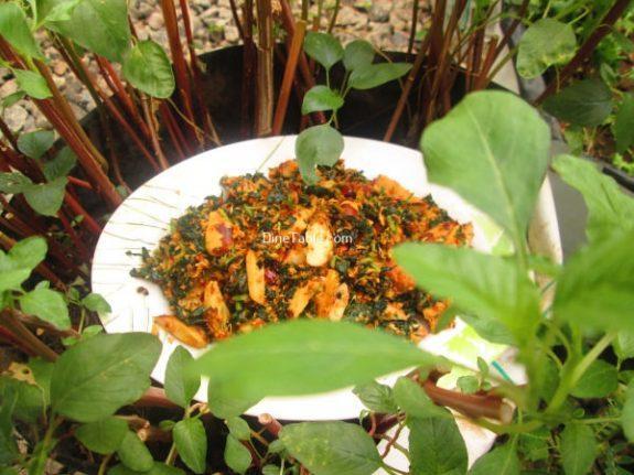 Chakkakuru Cheera Thoran Recipe / Spicy Dish