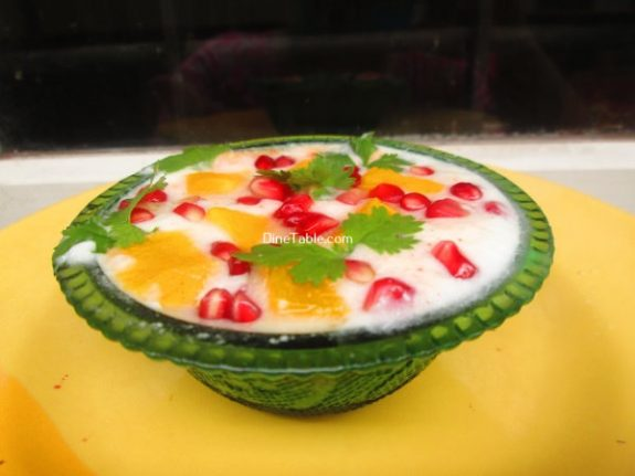 Pomegranate Mango Raita Recipe / Tasty Raita