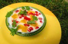 Pomegranate Mango Raita Recipe / Nutritious Raita
