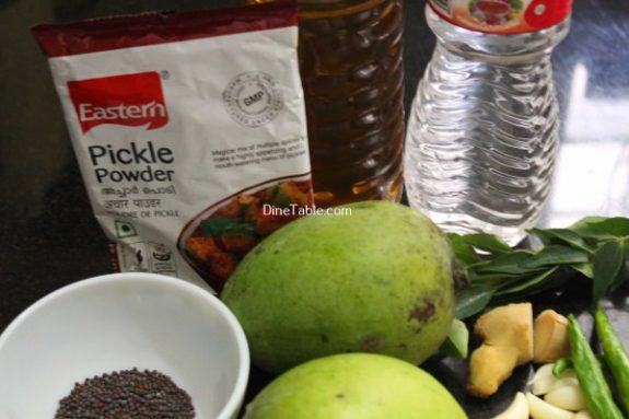 Raw Mango Pickle Recipe / Kerala Pickle