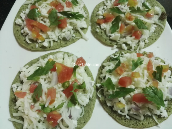 Green Gram Pizza Recipe - Qucik, Tasty, Healthy Veg Pizza