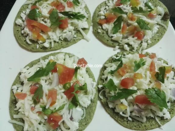 Green Gram Pizza Recipe - Qucik, Tasty, Healthy Veg Pizza
