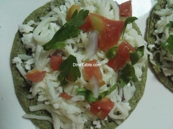 Green Gram Pizza Recipe - Qucik, Easy, Tasty, Healthy Veg Pizza