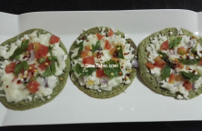 Green Gram Pizza Recipe - Healthy Veg Pizza