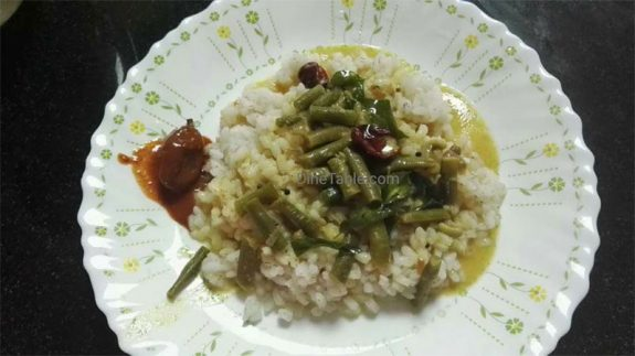 All Rounder Beans Curry - Beans Paallu Curry - Kerala Side Dish