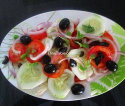 Black Olive Tomato Salad Recipe - Easy Salad