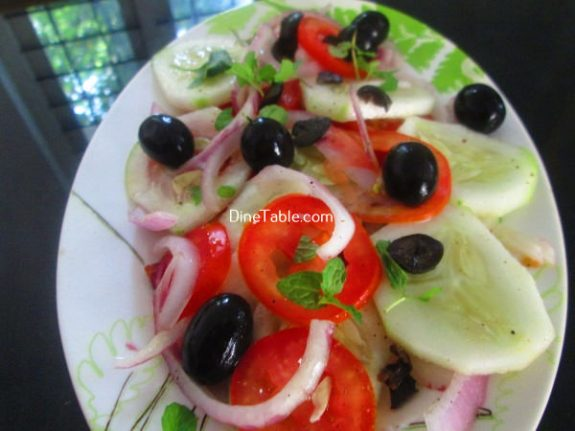 Black Olive Tomato Salad Recipe - Variety Salad