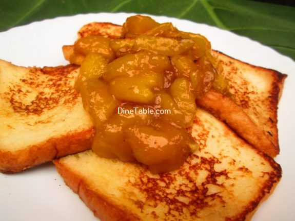 French Toast With Mango Sauce Recipe / Quick Snack
