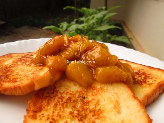 French Toast With Mango Sauce Recipe / Variety Snack