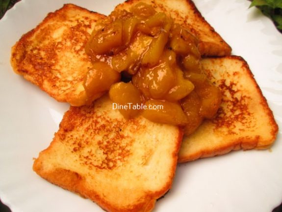 French Toast With Mango Sauce Recipe / Breakfast Snack