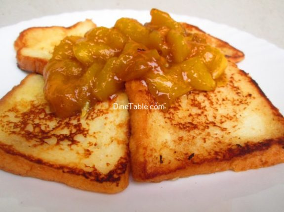 French Toast With Mango Sauce Recipe / Tasty Snack
