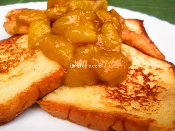 French Toast With Mango Sauce Recipe / Easy Snack