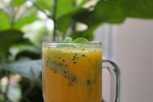 Kiwi Mango Layered Smoothie Recipe