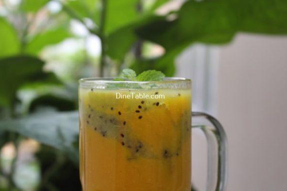 Kiwi Mango Layered Smoothie Recipe / Homemade Dish