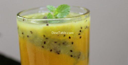 Kiwi Mango Layered Smoothie Recipe / Tasty Dish