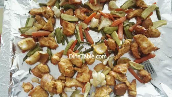 Boneless chicken tikka recipe – Easy Chicken tikka with Veggies in Cooking Range Oven
