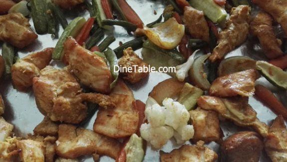 Boneless chicken tikka recipe – Quick Chicken tikka with Veggies in Cooking Range Oven