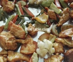 Boneless chicken tikka recipe – Chicken tikka with Veggies in Cooking Range Oven