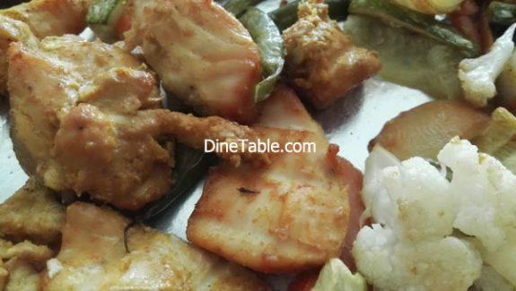Boneless chicken tikka recipe – Tasty Chicken tikka with Veggies in Cooking Range Oven