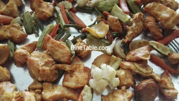 Boneless chicken tikka recipe – Chicken tikka with Veggies in Cooking Range Oven