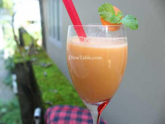 Carrot Lassi Recipe - Homemade Lassi