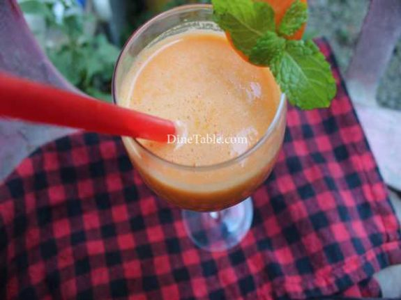Carrot Lassi Recipe - Tasty Lassi