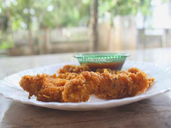 Cornflakes Coated Chicken Fingers Recipe - Nutritious Snack