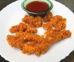 Cornflakes Coated Chicken Fingers Recipe - Kerala Snack