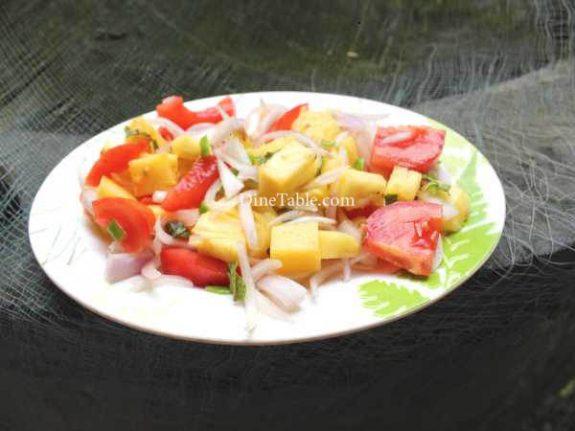 Pineapple Tomato Cucumber Onion Salad Recipe - Easy Dish