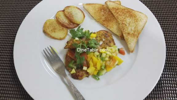 Easy Grilled Fish with Mango Salsa Recipe - Tasty & Healthy Mexican Recipe