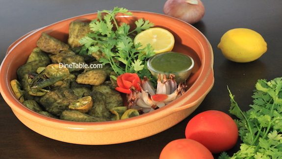 Hara Bhara Fish Tikka made in cooking range oven