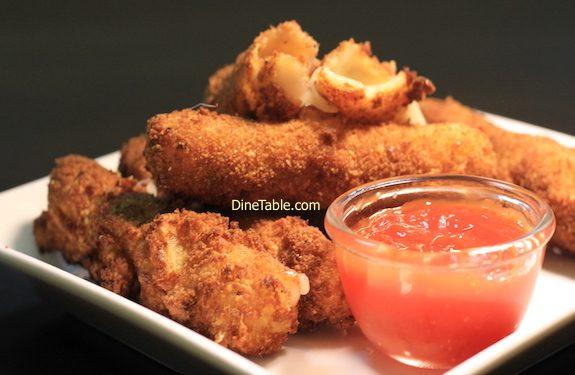 Momly Eggless Cheese Sticks Recipe - Quick Snacks Recipe