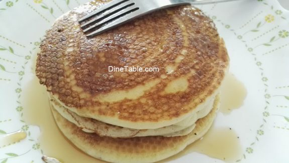 Pancake with Maple Syrup - Simple Breakfast Recipe