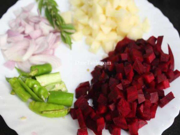 Beetroot Potato Mezhukkupuratti Recipe - Easy Dish