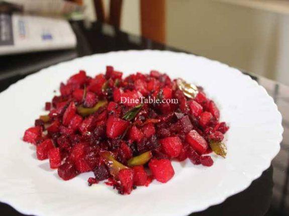Beetroot Potato Mezhukkupuratti Recipe - Tasty Dish
