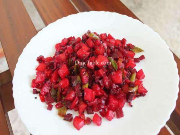 Beetroot Potato Mezhukkupuratti Recipe - Spicy Dish