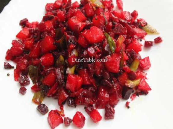 Beetroot Potato Mezhukkupuratti Recipe - Healthy Dish