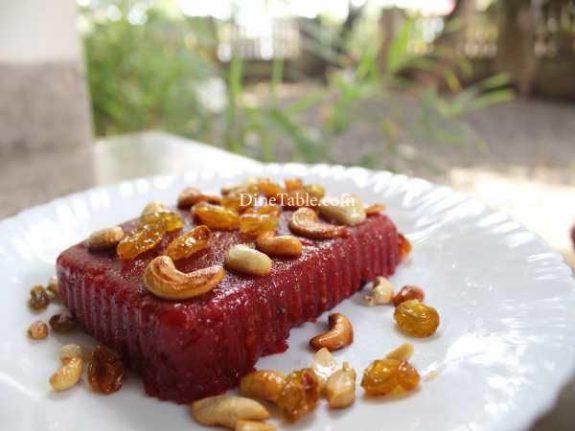 Beetroot Rava Kesari Recipe - Tasty Sweet
