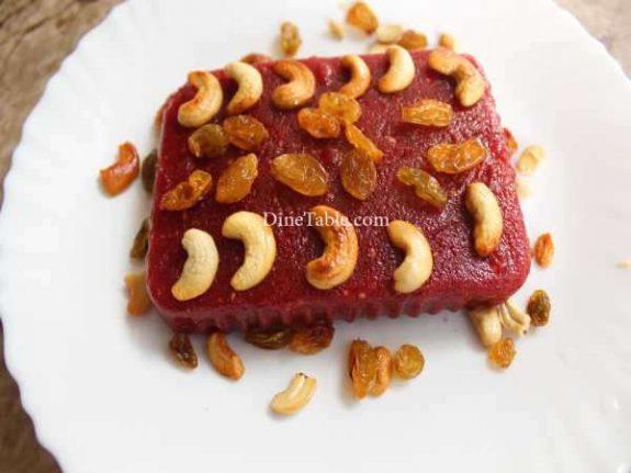 Beetroot Rava Kesari Recipe - Healthy Sweet