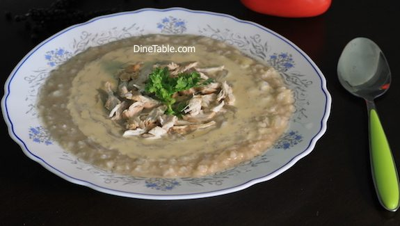 Rice chicken soup with Tahini Recipe - Healhty Soup Recipe - congee or Jook