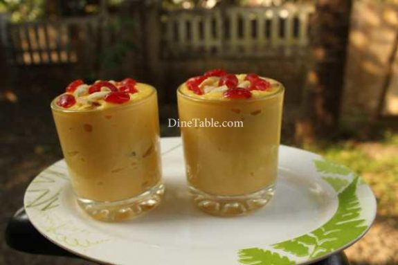Banana Custard Recipe - Yummy Custard